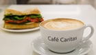 Sandwich and coffee Café Caritas