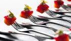 Salmon on forks