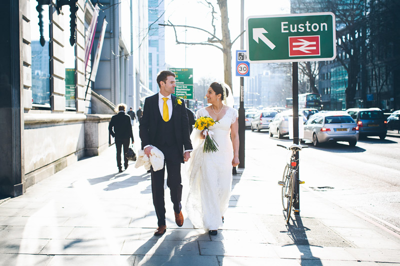 Euston, London wedding
