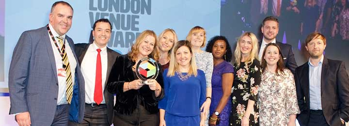 30 Euston Square team at London Venue Awards