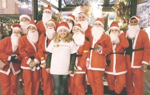 30 Euston Square Santa Run 2017